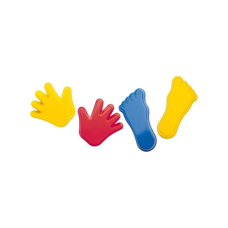 Lot de 4 moules pieds et mains