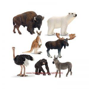 Lot de 7 figurines animaux du monde