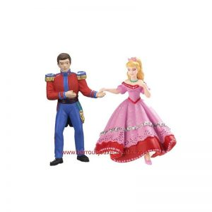 Lot de 2 figurines le prince et la princesse