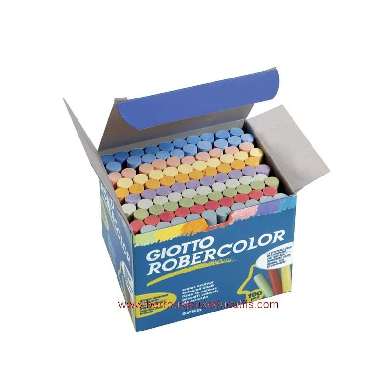 Boite de 100 craies de couleurs