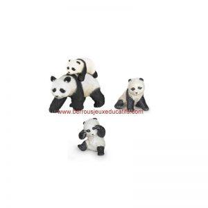 Figurine la famille panda