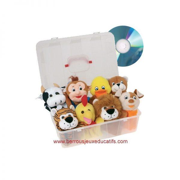Lot de 8 marionnettes animaux