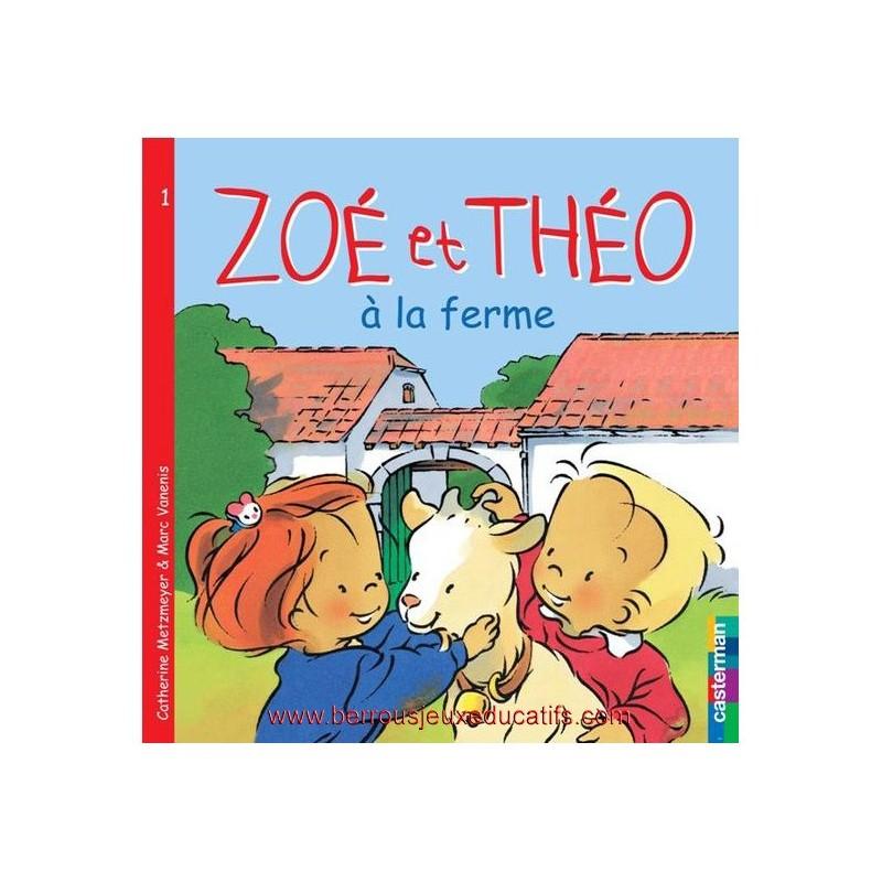 Zoé et Théo à la ferme