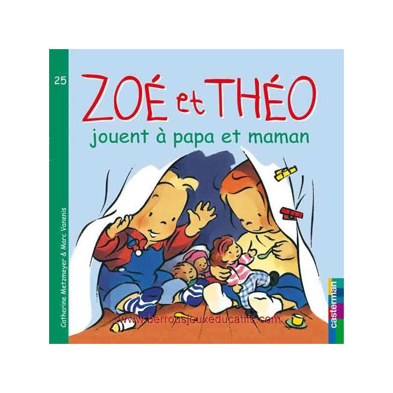 Zoé et Théo joue à papa et maman