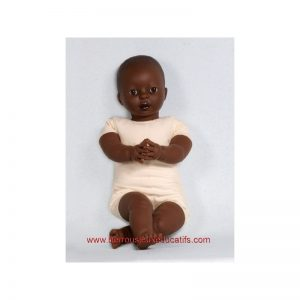 Poupon mou 45cm africain