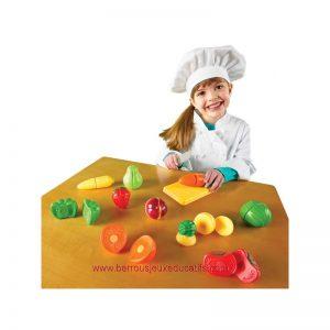 Fruits et légumes en plastique à couper