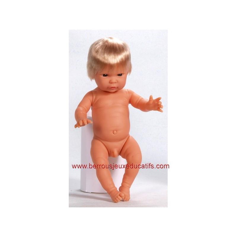 Poupée corps dur avec cheveux 34cm