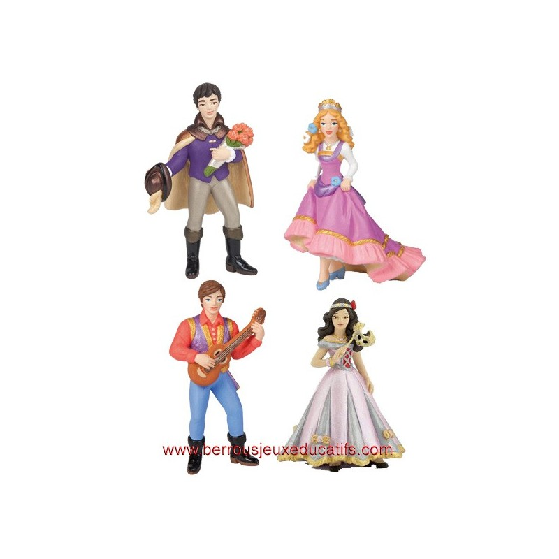 Lot de 4 figurines les couples princiers