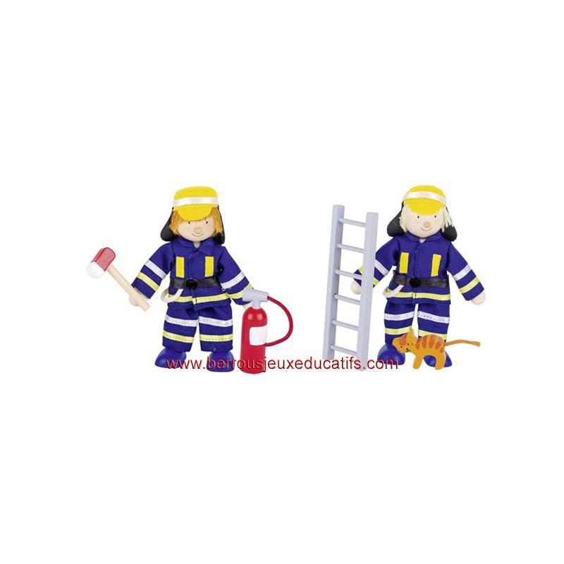Lot de 2 pompiers