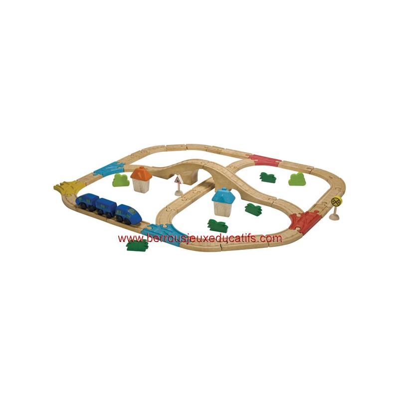 Circuit train double avec pont