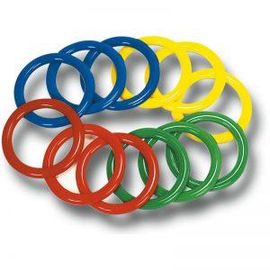 Lot de 12 anneaux à lancer