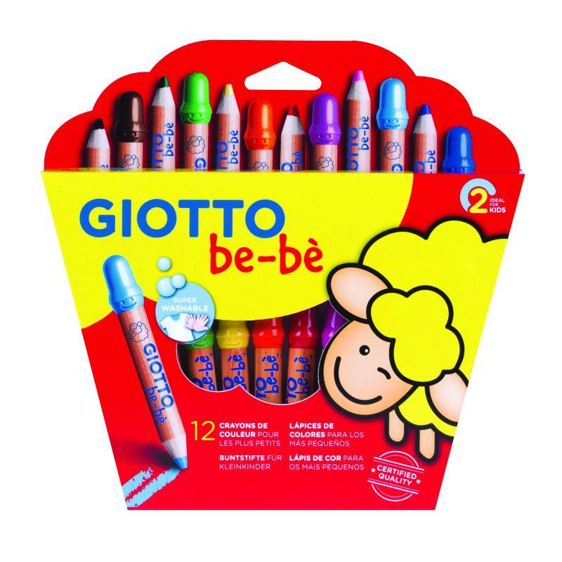 Lot de 12 Crayons de couleurs Giotto bébé
