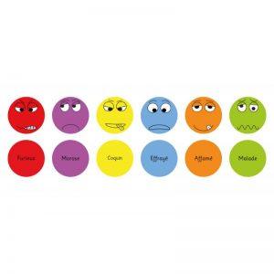 Lot de 6 galettes émotions (set n°2)