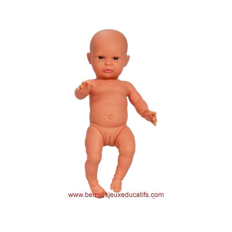 Poupée corps dur sans cheveux 34cm fille européenne