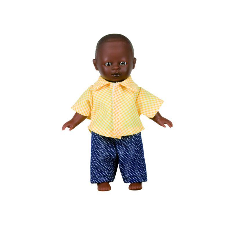 Poupée Garçon Africain sans cheveux 18cm