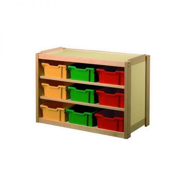 Meuble 2 étagères + 9 casiersPVC